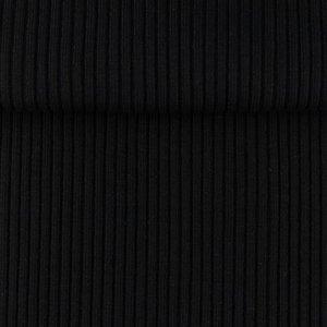 boordstof zwart rib