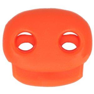 koordstopper met twee gaten voor koord tot maximaal 5 mm, oranje