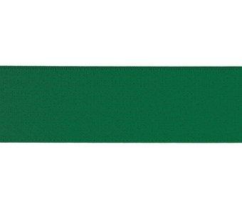 taille-elastiek 4 cm breed: effen groen /HALVE METER
