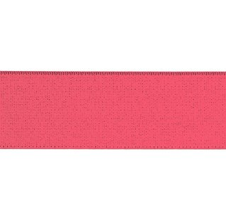 taille-elastiek 5 cm breed: koraal roze/HALVE METER