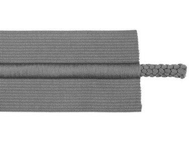 taille-elastiek 5 cm breed met koord in het midden: grijs /HALVE METER