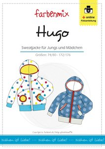 Hugo, sweatvest in de maten 74/80 - 170/176