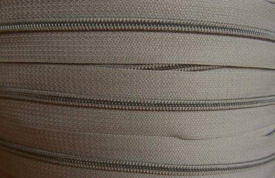 rits aan de meter, grijs/taupe 4mm