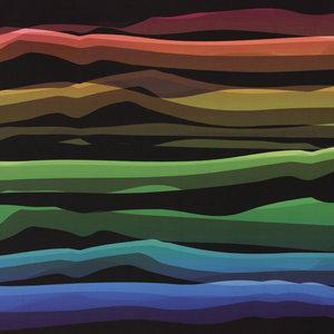 Wavy stripes: softshell, winddicht en waterafstotend: regenboogkleuren