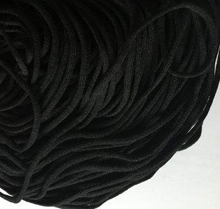 elastiek 3 mm zwart, heerlijk zacht en rekt enorm goed!