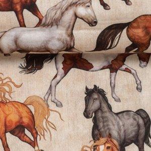 Kim: 100 % katoenen poplin met paarden