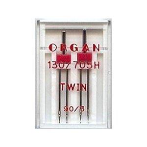 Organ 2 tweelingnaalden in één doosje 90/3.0