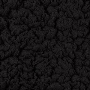 kunst-schapenvacht: bijzonder zachte lekker dikke rekbare stof, echte knuffelstof! zwart