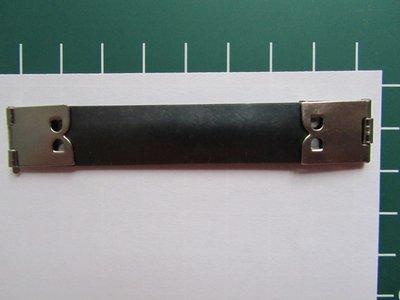 metalen flexibele klem voor bv brillenkokers, portemonnee, tasje= 8 cm