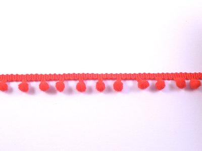 pomponband met kleine bolletjes, rood