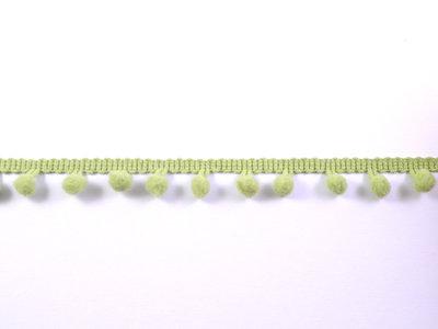 pomponband met kleine bolletjes, lichtgroen