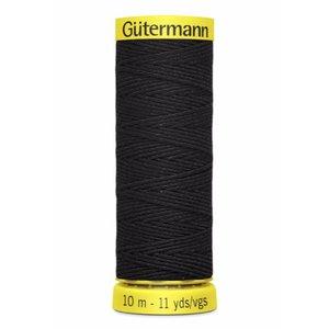 Gütermann rimpelelastiek zwart 10 meter