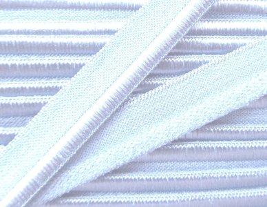 elastisch paspelband, wit