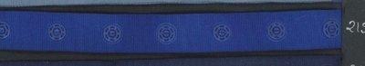 drukkertjesband blauw: afstand 2,5 cm: HALVE meter