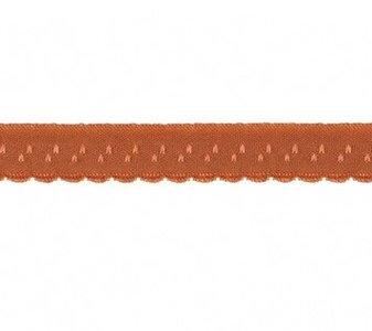 roze-bruin omvouwelastiek met klein schulprandje op de vouw
