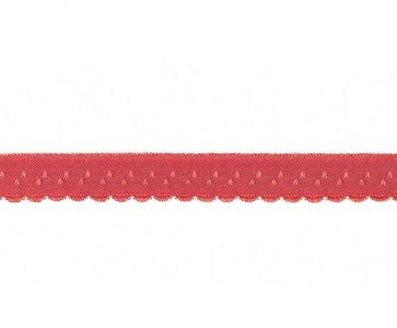 roze-rood omvouwelastiek met klein schulprandje op de vouw