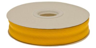 biaisband 20 mm, okergeel