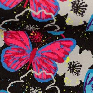 Fiete softshell: kleurige vlinders op zwart