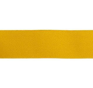 taille-elastiek 4 cm breed: effen oker-donker geel /HALVE METER