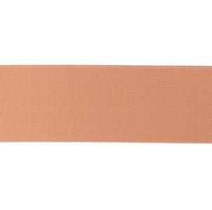 taille-elastiek 4 cm breed: effen lichtbruinig-roze /HALVE METER/ook wel donker-zalm