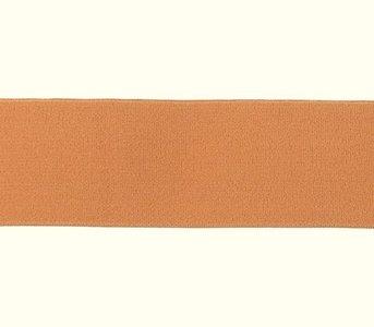 taille-elastiek 4 cm breed: effen licht terra /HALVE METER