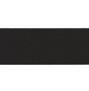 taille-elastiek 5 cm breed: zwart /HALVE METER