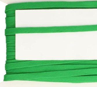 groen veterband oftewel plat koord 9 mm breed, dubbeldik