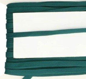 donkergroen veterband oftewel plat koord 9 mm breed, dubbeldik
