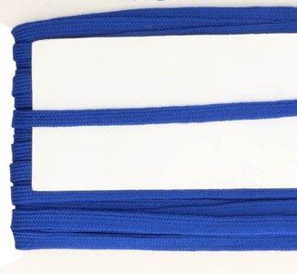 blauw veterband oftewel plat koord 9 mm breed, dubbeldik