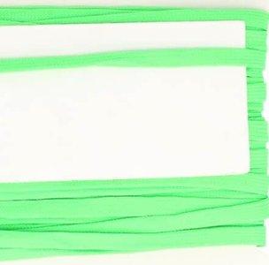 lichtgroen veterband oftewel plat koord 9 mm breed, dubbeldik