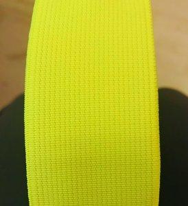 taille-elastiek 4 cm breed: neon geel / HALVE METER