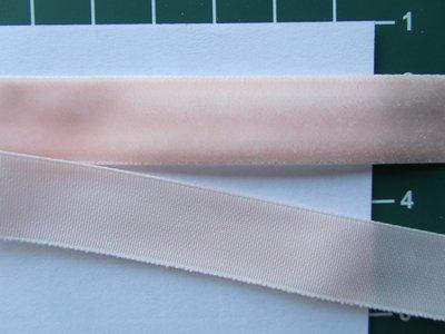 fluweelband, zachtzalmroze