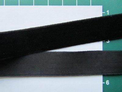 fluweelband, zwart