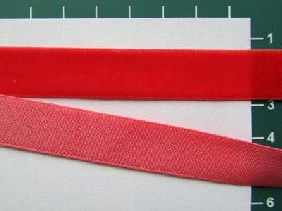 fluweelband, knalrood