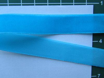 fluweelband, turquoise