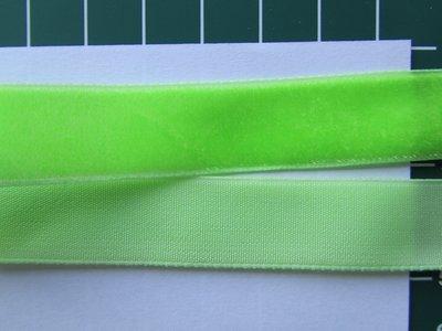 fluweelband, lime = geen fluor
