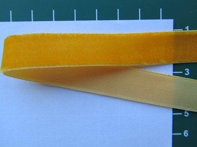 fluweelband, oranje-geel