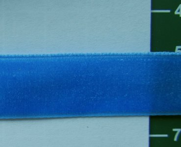 fluweelband, felblauw