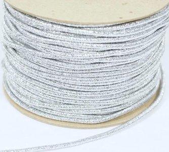 koordelastiek zilver lurex 3mm