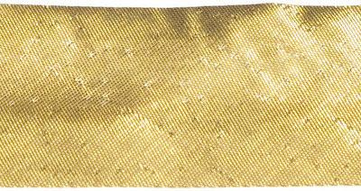 biaisband 13 mm, warm goud met een heel klein glimmend steekje