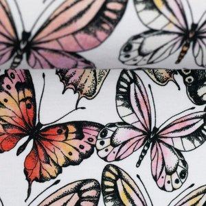 Theo: tricot wit met vlinders