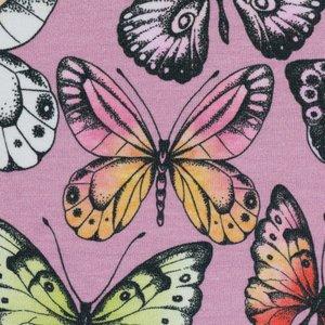 Theo: tricot roze met vlinders