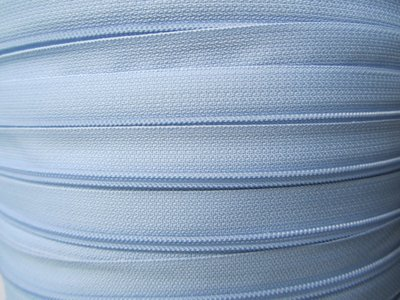 rits aan de meter, lichtblauw 4mm