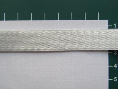 Elastiek 1,5 cm breed,  wit