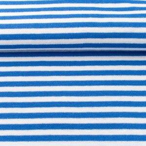 fijne boordstof blauw/wit