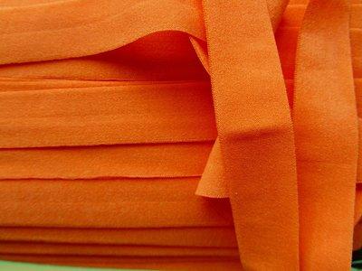 """omvouwelastiek 2 cm """"beschaafd"""" oranje"""