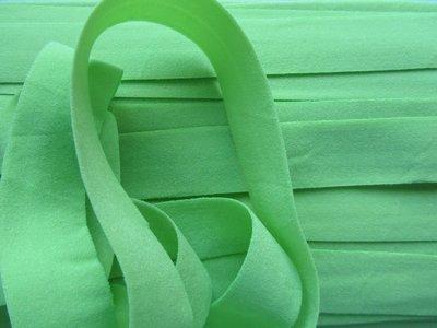 omvouwelastiek 2 cm lichtgroen (bijna mint)