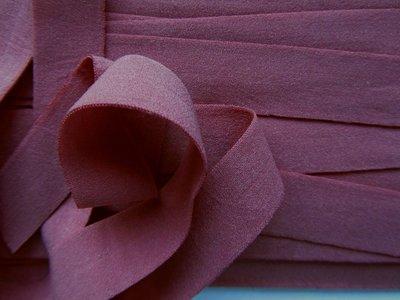 omvouwelastiek 2 cm oudroze/bruin