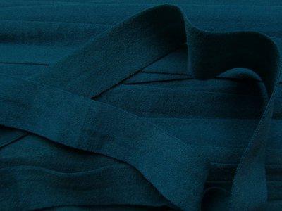 omvouwelastiek 2 cm donkerpetrol