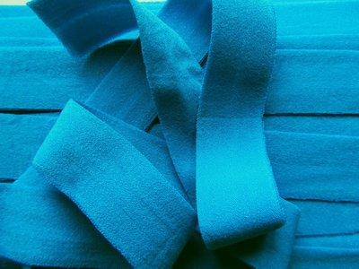 omvouwelastiek 2 cm wat donkerder turquoise